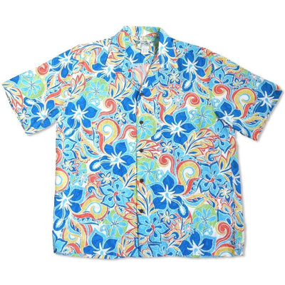 Seaglass Blue Hawaiian Rayon Shirt - Mens Shirts