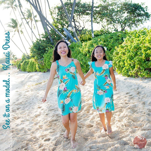 Seaglass Orange Kauai Hawaiian Dress - Womens Dress