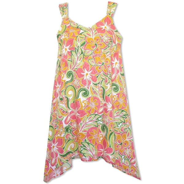 Seaglass Orange Swing Hawaiian Dress - Womens Dress