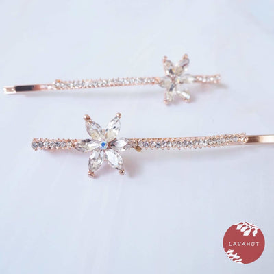 Starburst Sparkly Hair Pin Set - Clear - Hair Accessories