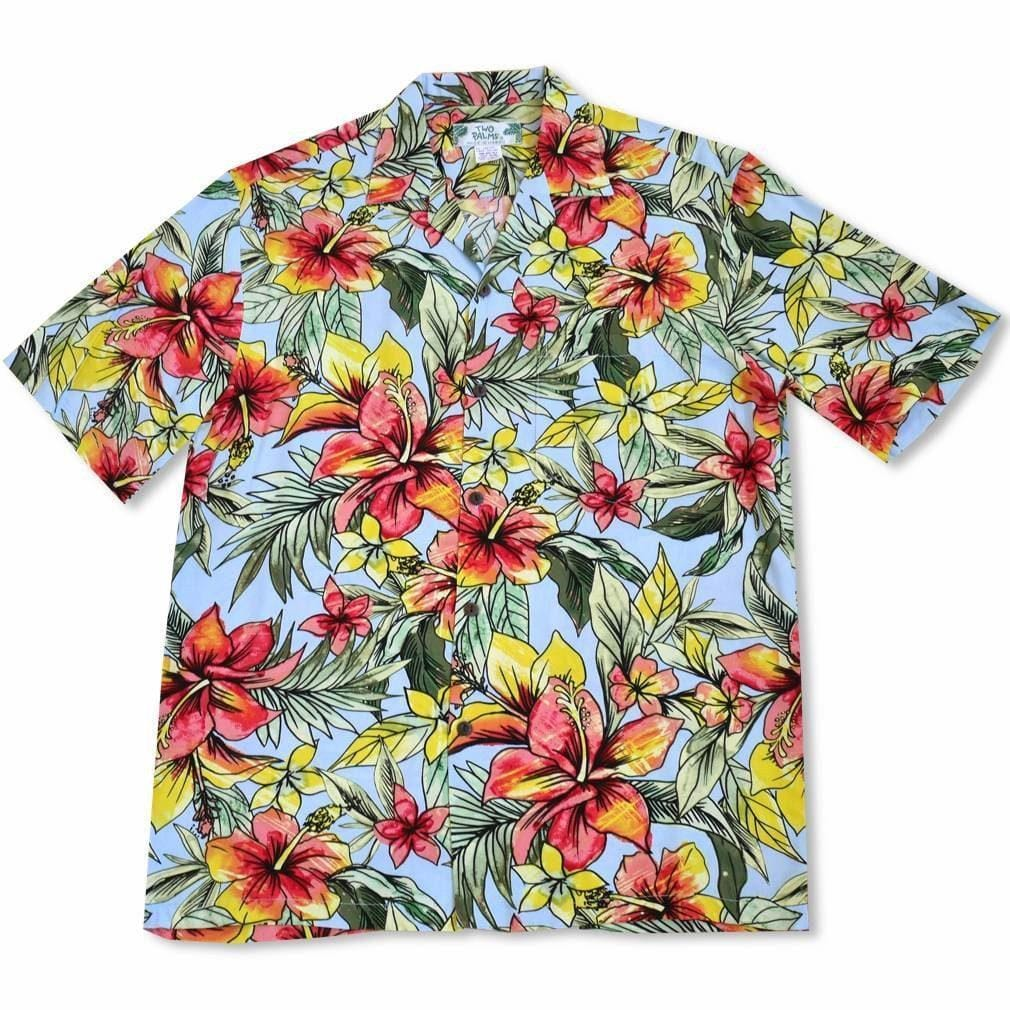 Sunny Blue Hawaiian Rayon Shirt - Mens Shirts