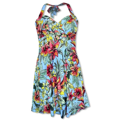 Sunny Blue Napali Hawaiian Dress - s / Blue - Women's Dress