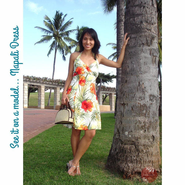 Sunny Blue Napali Hawaiian Dress - Womens Dress