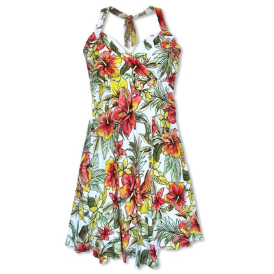 Sunny White Napali Hawaiian Dress - s / White - Women's Dress