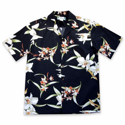 Surprise Black Hawaiian Cotton Shirt - Men's Shirts