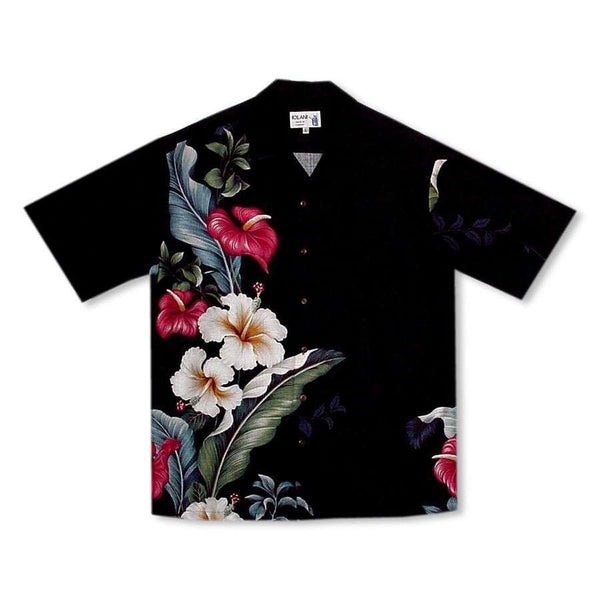 Sweetheart Black Hawaiian Rayon Shirt - Mens Shirts