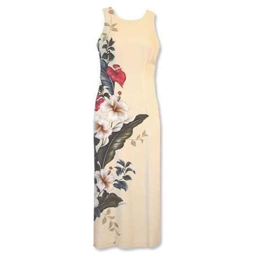 Sweetheart Cream Hawaiian Tank Dress - Womens Dress