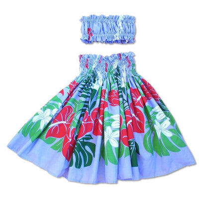 Sweetie Purple Girl's Pau Hawaiian Hula Skirt Set - Girl's Pau Hula Skirt