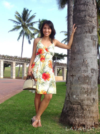 Tangerine Napali Hawaiian Dress - Women's Dress