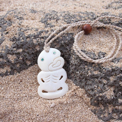 Tribal Warrior Hawaiian Necklace - Cream - Necklaces