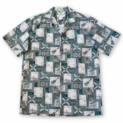Tropic Vision Green Hawaiian Cotton Shirt - s / Green - Men's Shirts