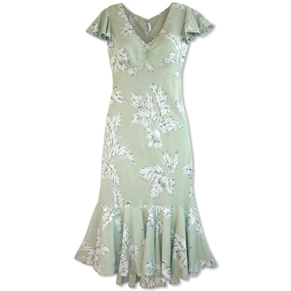 Ulu Green Pauahi Hawaiian Dress - Womens Dress
