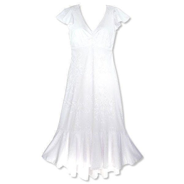 Ulu White Pauahi Hawaiian Wedding Dress - Womens Dress