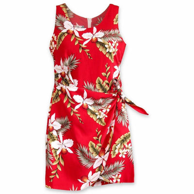 Volcanic Red Honi Hawaiian Dress - Women's Dress