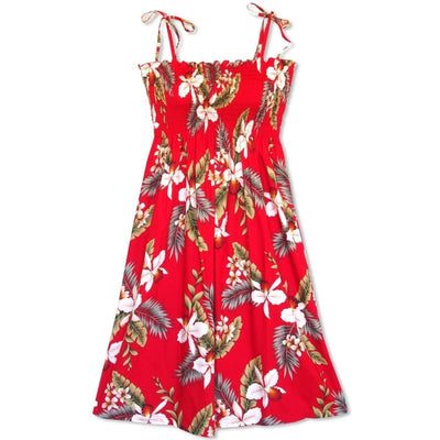 Volcanic Red Moonkiss Hawaiian Dress - One Size / Red - Women's Dress