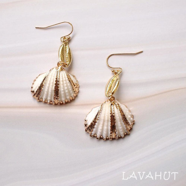 White Ark Seashell Earrings - Earrings