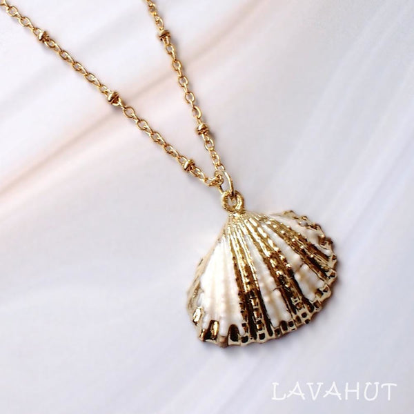 White Ark Seashell Hawaiian Pendant Necklace - Necklaces