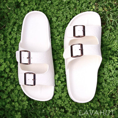 White Buckle™ - Pali Hawaii Sandals - Hawaiian Sandals