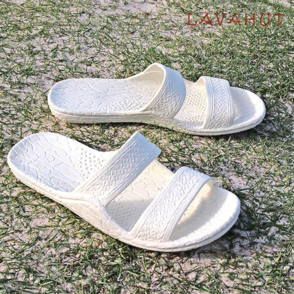 White Classic Jandals® - Pali Hawaii Sandals - Hawaiian Sandals