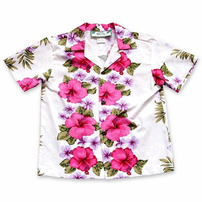 White Mist Hawaiian Boy Shirt - 2 / White - Boys Hawaiian Shirts