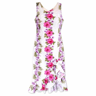 White Mist Naniloa Hawaiian Dress - S / White - Womens Dress