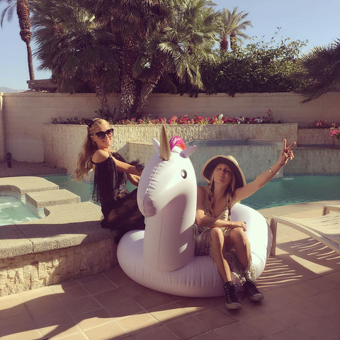 Paris Hilton Giant Inflatable Unicorn