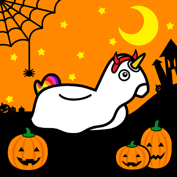 #FLOATY Unicorn Halloween Trick