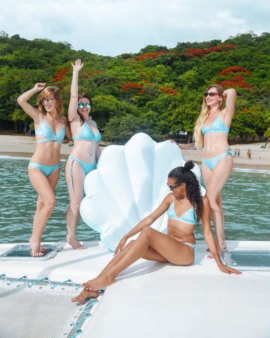 Kololo Blue Seashell floaty girls posing having fun