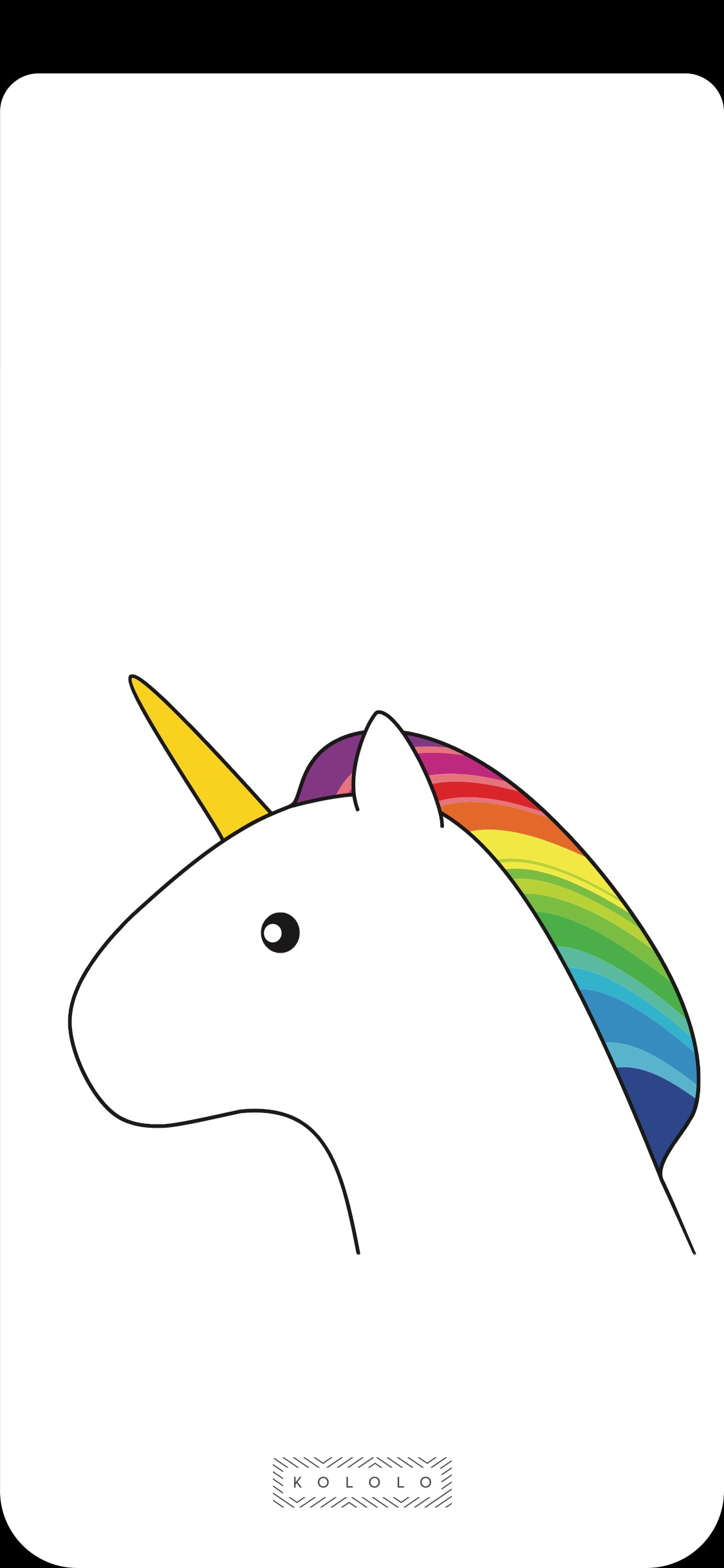 KOLOLO Unicorn Wallpaper iPhone X Notchless
