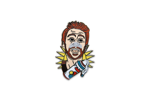 Huffing Charlie Day Pin