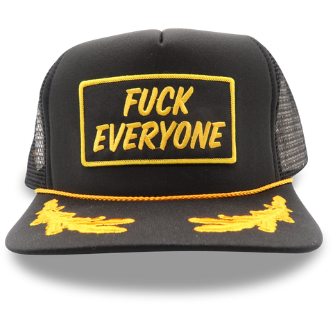 """Fuck Everyone"" Patch Captain Hat"