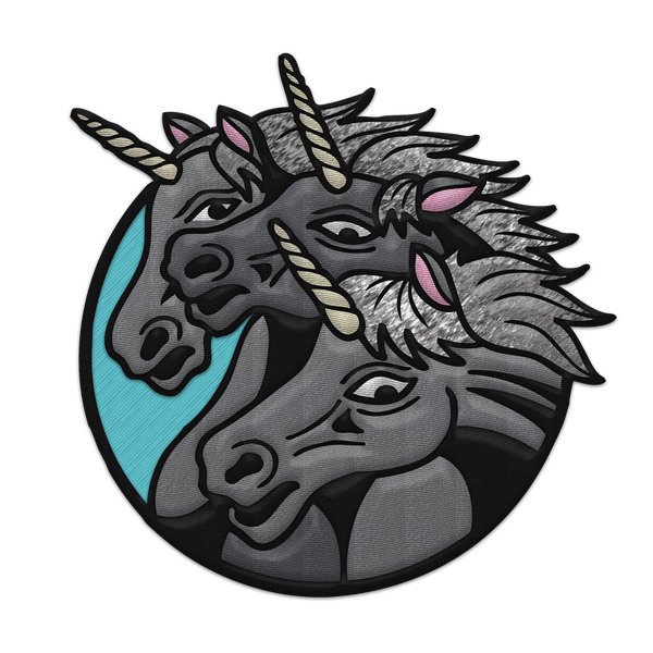 """Pharaohs Unicorns"" Patch (Iron-On)"