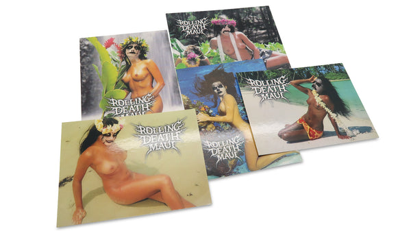 Black Aloha Postcard 5 Pack