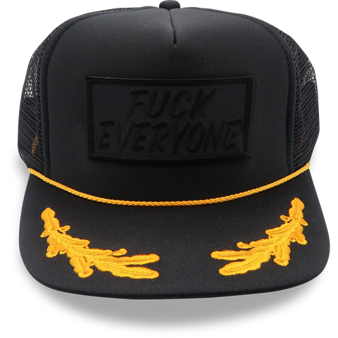 "BLACKOUT  ""Fuck Everyone"" Patch Captain Hat"