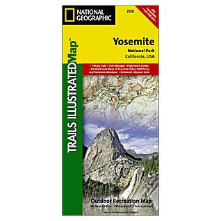 Trails Illustrated Yosemite National Park Trail Map