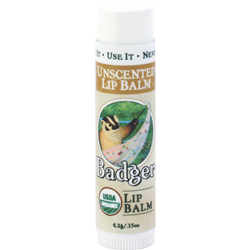 Badger Classic Unscented Lip Balm - Just Roughin' It
