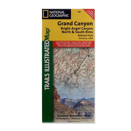 Bright Angel Canyon / North & South Rims Map