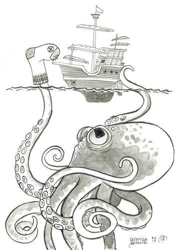 Sea Monster Postcard