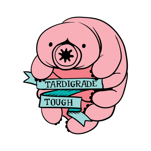 Tardigrade Tough Die Cut Stickers