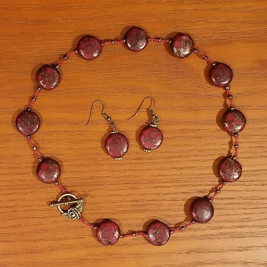 Red Jade and Rose Clasp