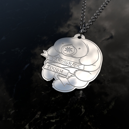 Tardigrade Tough Sterling Silver Pendant