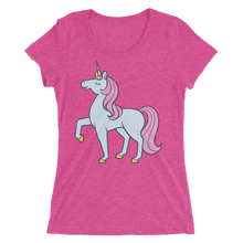 Blue and Pink Unicorn Short sleeve women's t-shirt