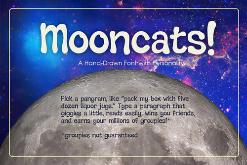 Mooncats Font Bundle