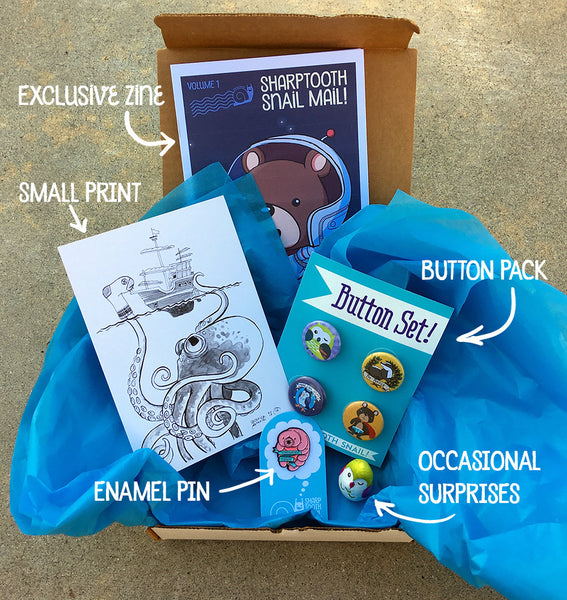 Sharptooth Snail Mail Subscription Box