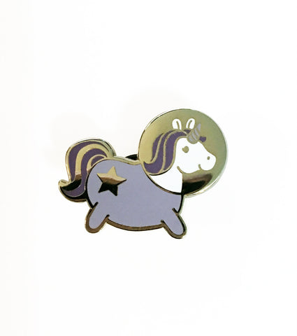Astronaut Space Unicorn Enamel Pin