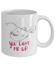 Funny Anglerfish Valentine Mug Gift for Boyfriend Girlfriend Husband Wife Fiance Nerdfighters