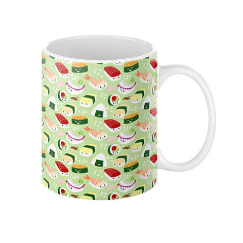 Cute Sushi Pattern Coffee Mug