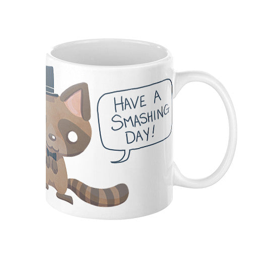 Dapper Raccoon Coffee Mug 11oz - Sharptooth Snail