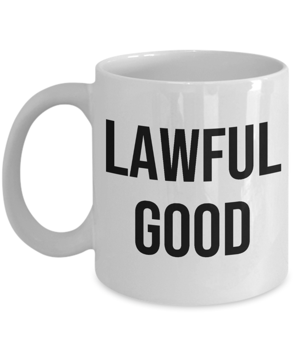 Alignment Mug Tabletop Gaming RPG Game Gamer Lawful Good
