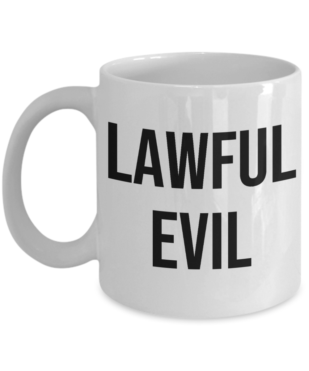 Alignment Mug Tabletop Gaming RPG Gamer Lawful Evil